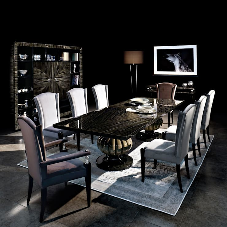 Capital decor kemp dining table:  Dining room by We Style Homes