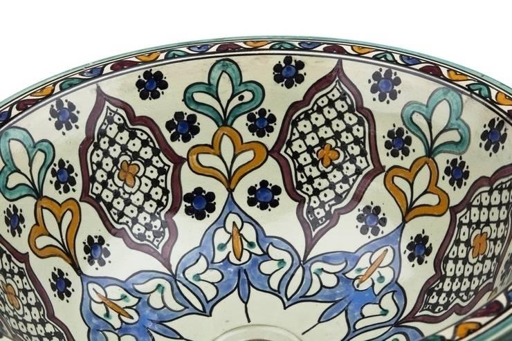Kama - Orientalna umywalka arabska : styl , w kategorii Łazienka zaprojektowany przez Kolory Maroka