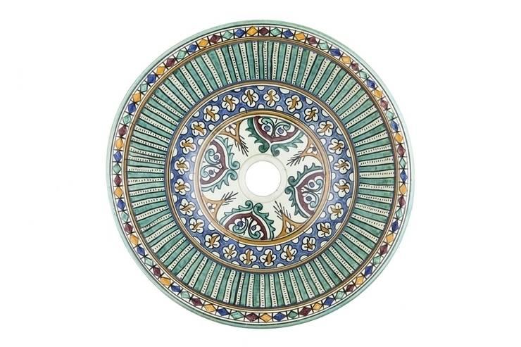 Mariah - Wzorzysta umywalka arabska : styl , w kategorii Łazienka zaprojektowany przez Kolory Maroka,