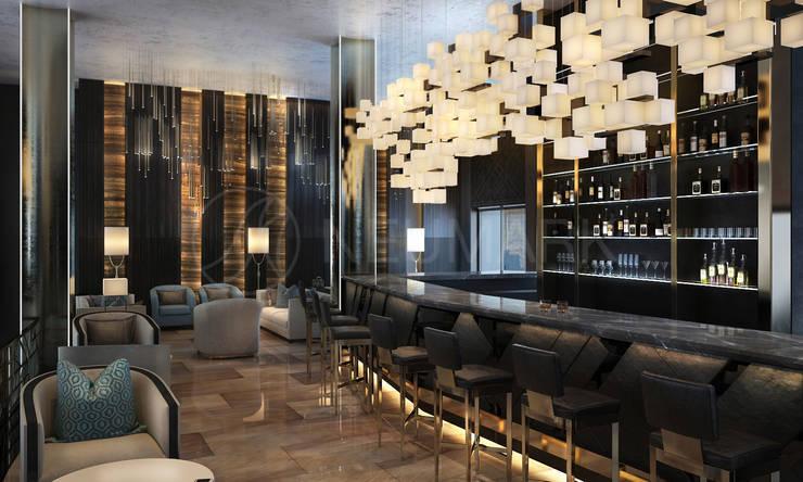 "Lobby bar in ""Privilegiya"" House, St-Petersburg, Russia : Гостиная в . Автор – NEUMARK"