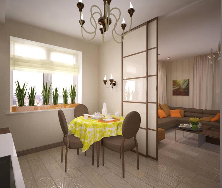 Квартира 65 кв.м. в Серебряных ключах: Кухни в . Автор – Студия дизайна Виктории Силаевой