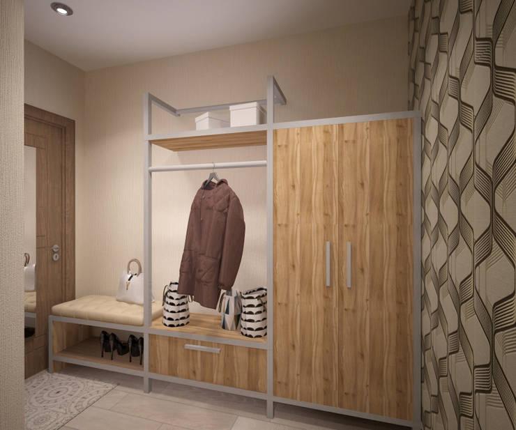 Квартира 65 кв.м. в Серебряных ключах: Коридор и прихожая в . Автор – Студия дизайна Виктории Силаевой