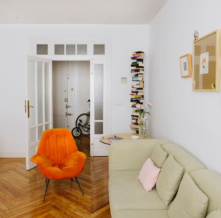 Vivienda zona plaza de Olavide, Madrid: Salones de estilo  de nimú equipo de diseño