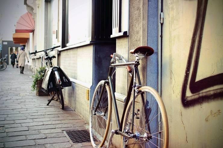 FlipCrown: een plaatsbesparende fietsoplossing:  Gang, hal & trappenhuis door Deltareference