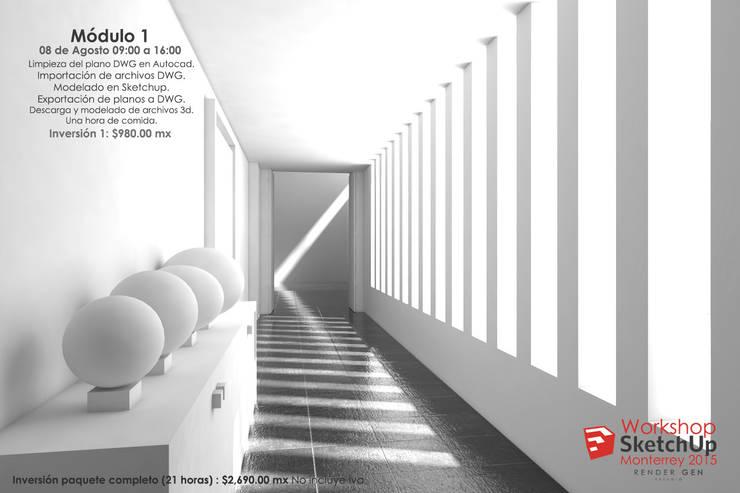 Workshop Muestra: Pasillos y recibidores de estilo  por Estudio Render Gen