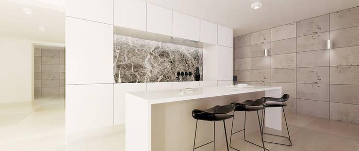 Dom w Żukowie : styl , w kategorii Kuchnia zaprojektowany przez Ajot pracownia projektowa