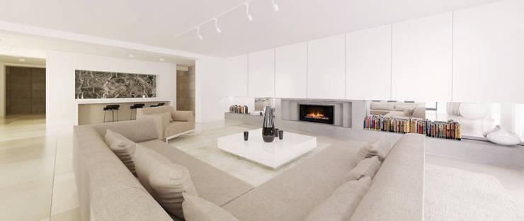 Salon: styl , w kategorii Salon zaprojektowany przez Ajot pracownia projektowa