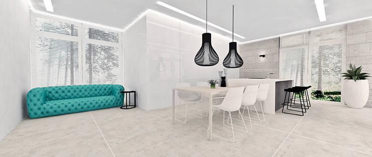 Kuchnia: styl , w kategorii Kuchnia zaprojektowany przez Ajot pracownia projektowa