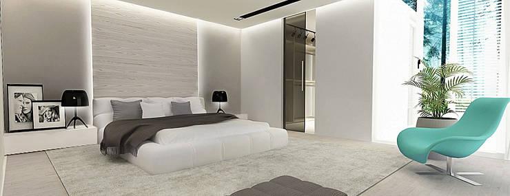 Sypialnia: styl , w kategorii Sypialnia zaprojektowany przez Ajot pracownia projektowa