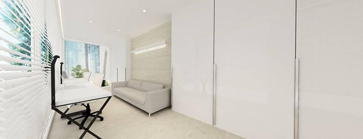 gabinet: styl , w kategorii Pokój multimedialny zaprojektowany przez Ajot pracownia projektowa