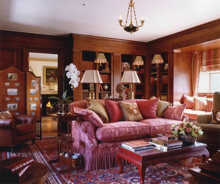 Mayfair Apartment - Custom built Library:  Living room by Meltons