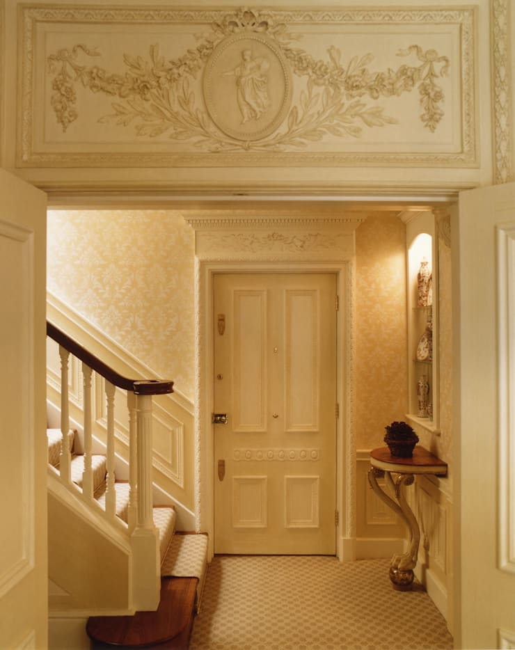 Mayfair Apartment - New Staircase the Entrance Hall:  Corridor & hallway by Meltons