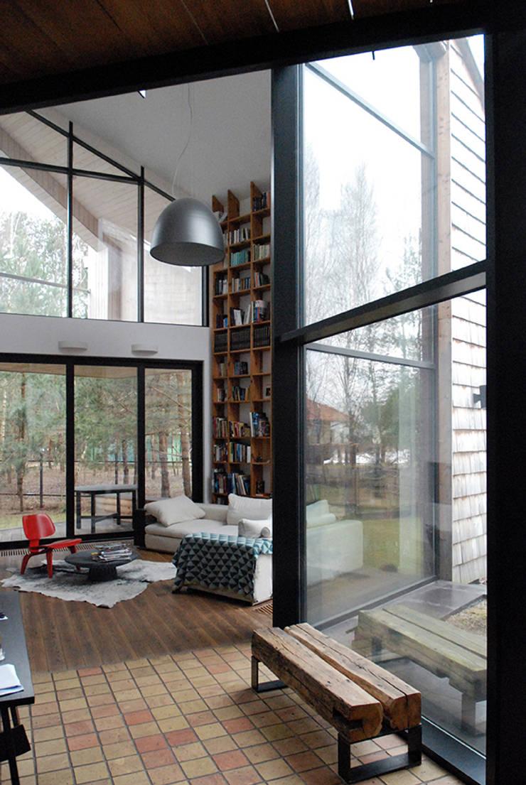 Living room by SDA - SZCZEŚNIAK DENIER ARCHITEKCI,