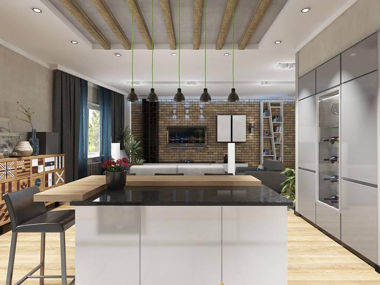 4-х комнатная квартира: Гостиная в . Автор – EEDS design