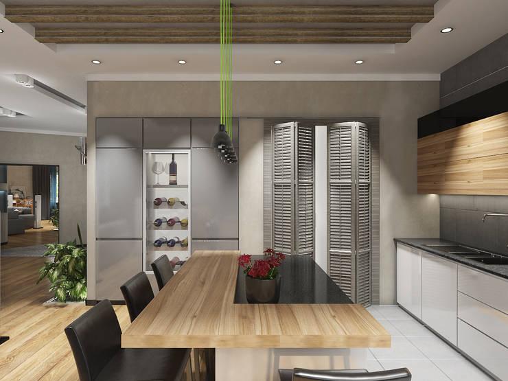 4-х комнатная квартира: Кухни в . Автор – EEDS design