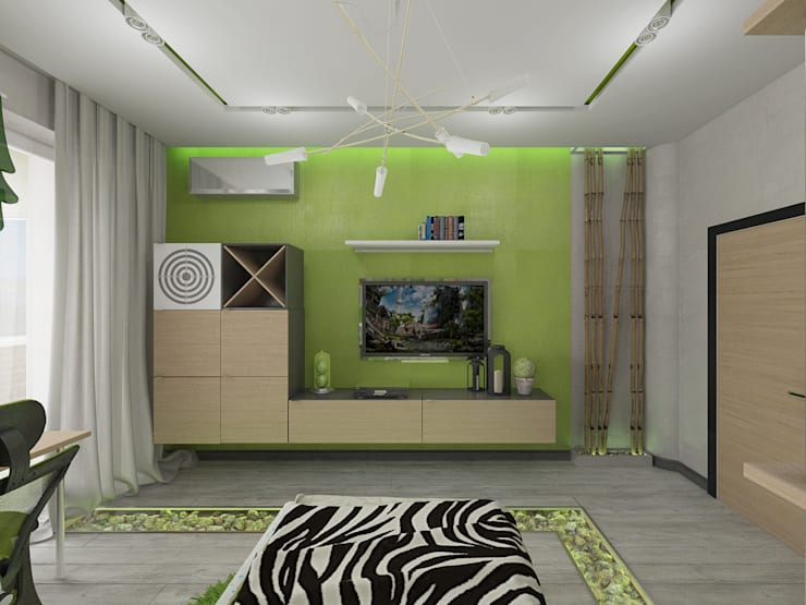 4-х комнатная квартира: Спальни в . Автор – EEDS design