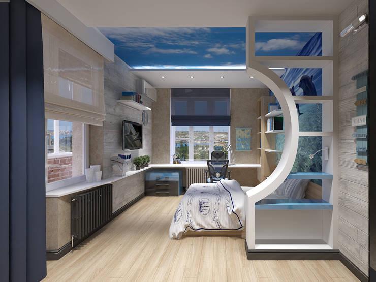 4-х комнатная квартира: Детские комнаты в . Автор – EEDS design