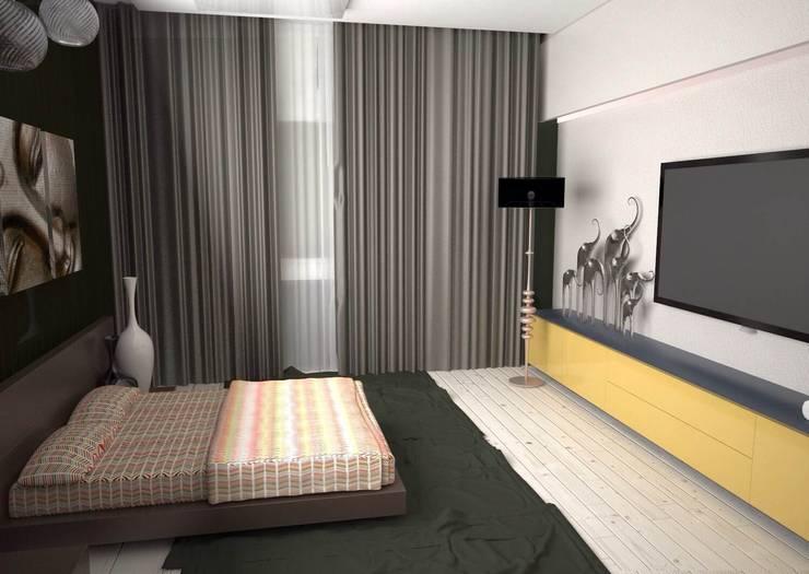 Квартира на ул.Мира: Спальни в . Автор – DS Fresco