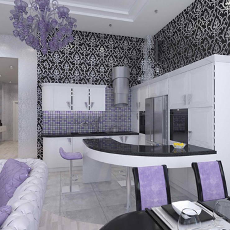 квартира в стиле арт деко: Кухни в . Автор – архитектор-дизайнер Алтоцкий Михаил (Altotskiy Mikhail)