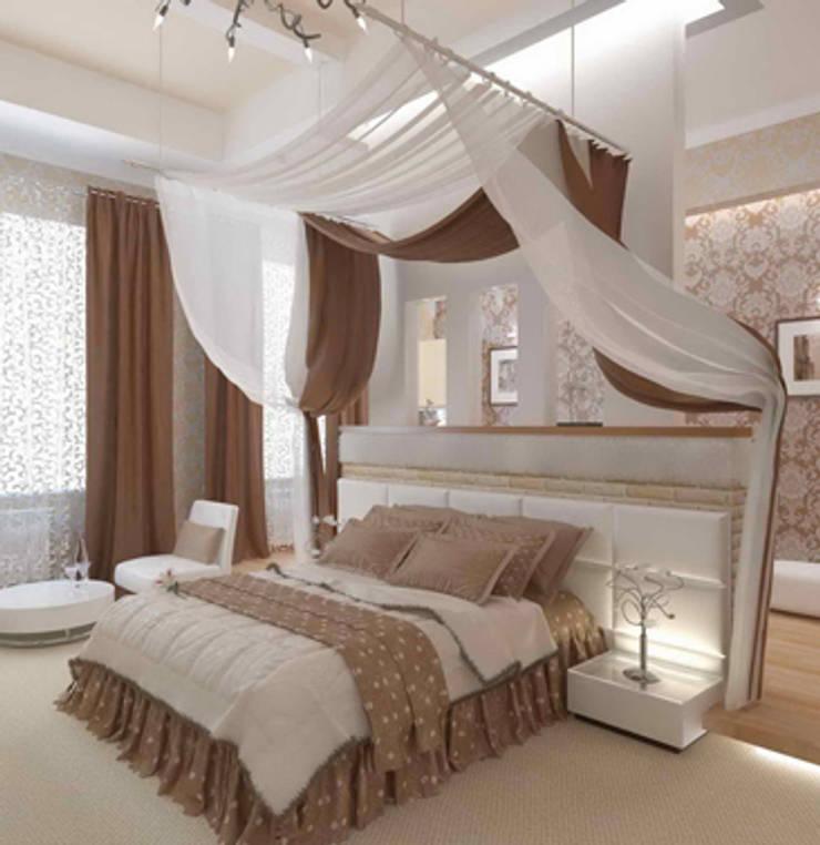 квартира в стиле арт деко: Спальни в . Автор – архитектор-дизайнер Алтоцкий Михаил (Altotskiy Mikhail)