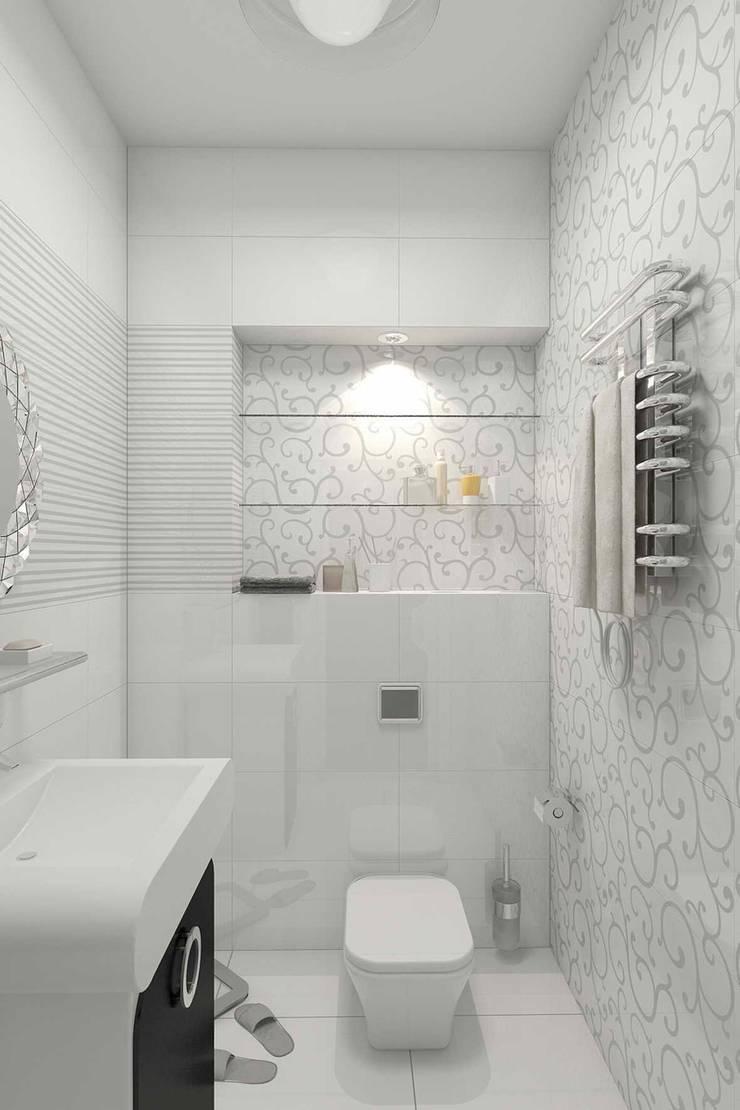 квартира в стиле арт деко: Ванные комнаты в . Автор – архитектор-дизайнер Алтоцкий Михаил (Altotskiy Mikhail)