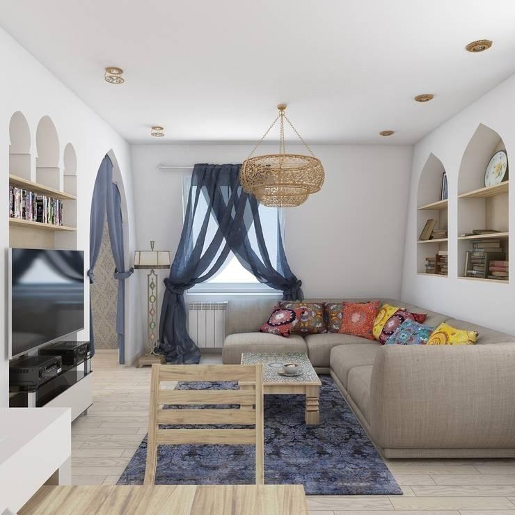 квартира в восточном стиле: Гостиная в . Автор – архитектор-дизайнер Алтоцкий Михаил (Altotskiy Mikhail)