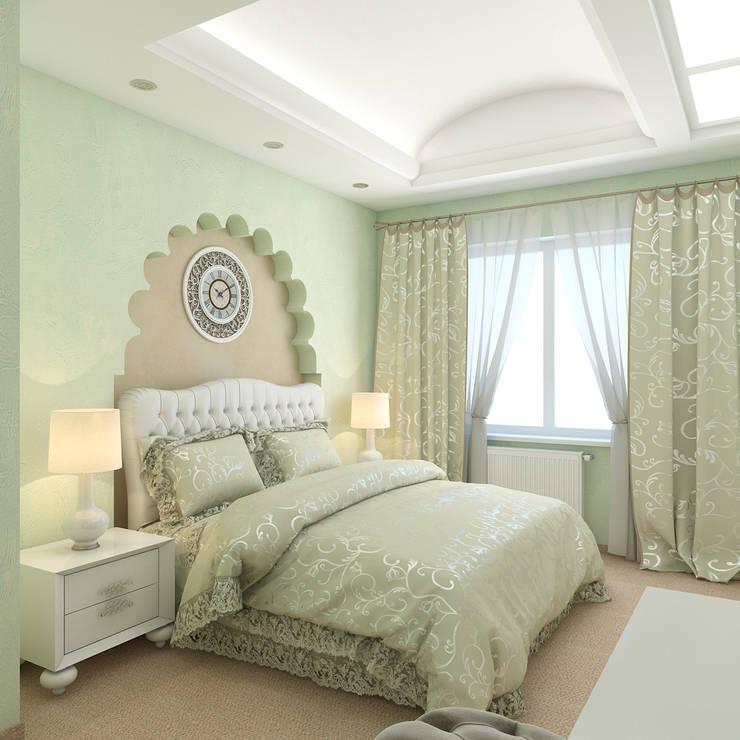 квартира в восточном стиле: Спальни в . Автор – архитектор-дизайнер Алтоцкий Михаил (Altotskiy Mikhail)