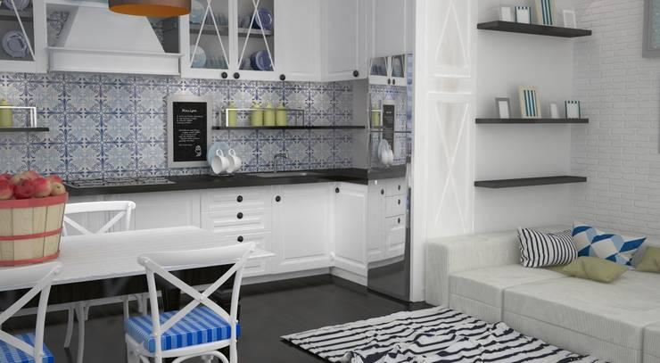 Квартира на ул.Мира: Кухни в . Автор – DS Fresco