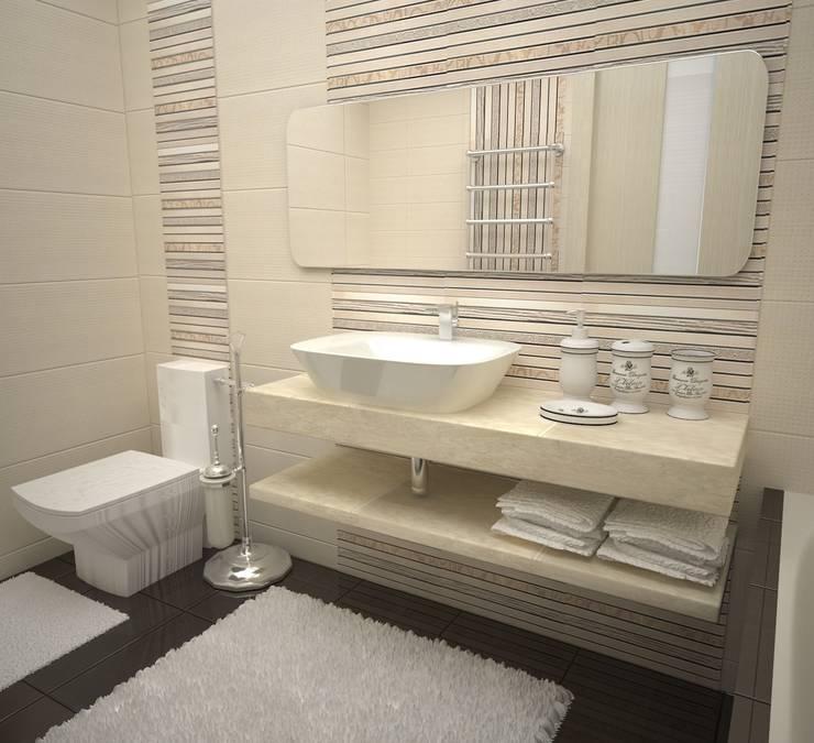 Квартира на ул.Мира: Ванные комнаты в . Автор – DS Fresco