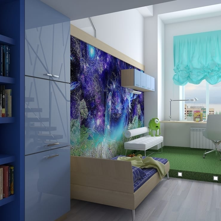 квартира в стиле арт деко: Детские комнаты в . Автор – архитектор-дизайнер Алтоцкий Михаил (Altotskiy Mikhail)