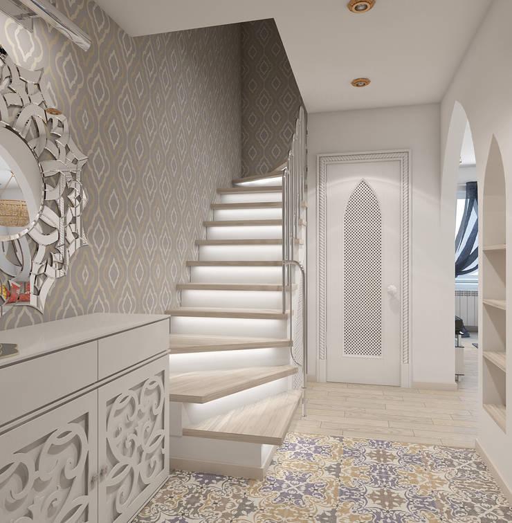 квартира в восточном стиле: Коридор и прихожая в . Автор – архитектор-дизайнер Алтоцкий Михаил (Altotskiy Mikhail)