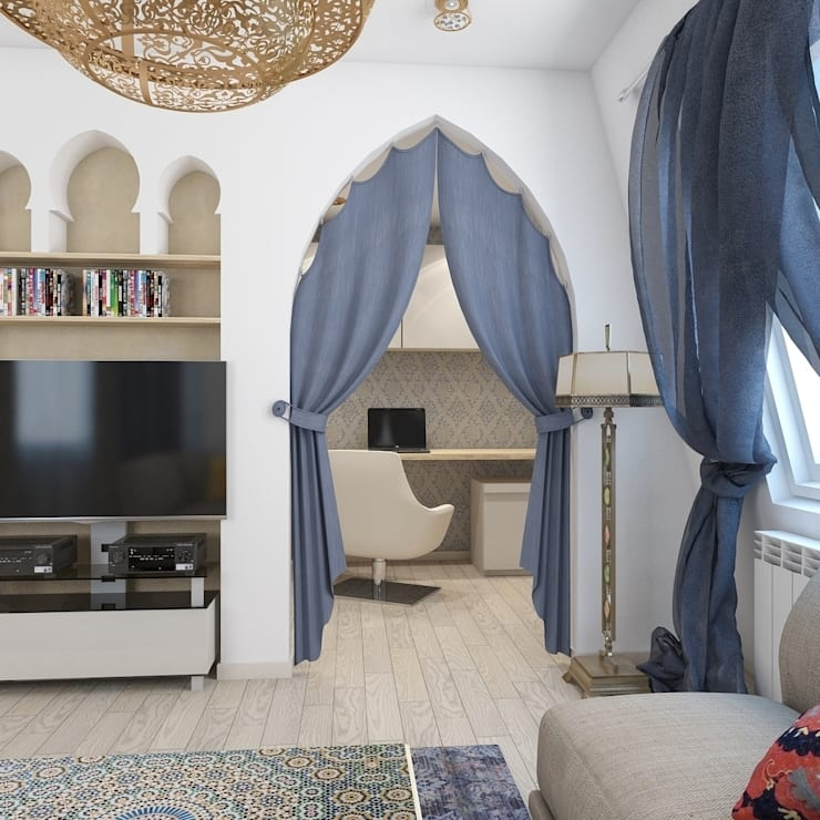 Salones de estilo asiático de архитектор-дизайнер Алтоцкий Михаил (Altotskiy Mikhail)