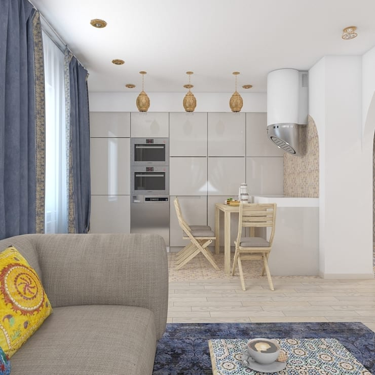 квартира в восточном стиле: Кухни в . Автор – архитектор-дизайнер Алтоцкий Михаил (Altotskiy Mikhail)