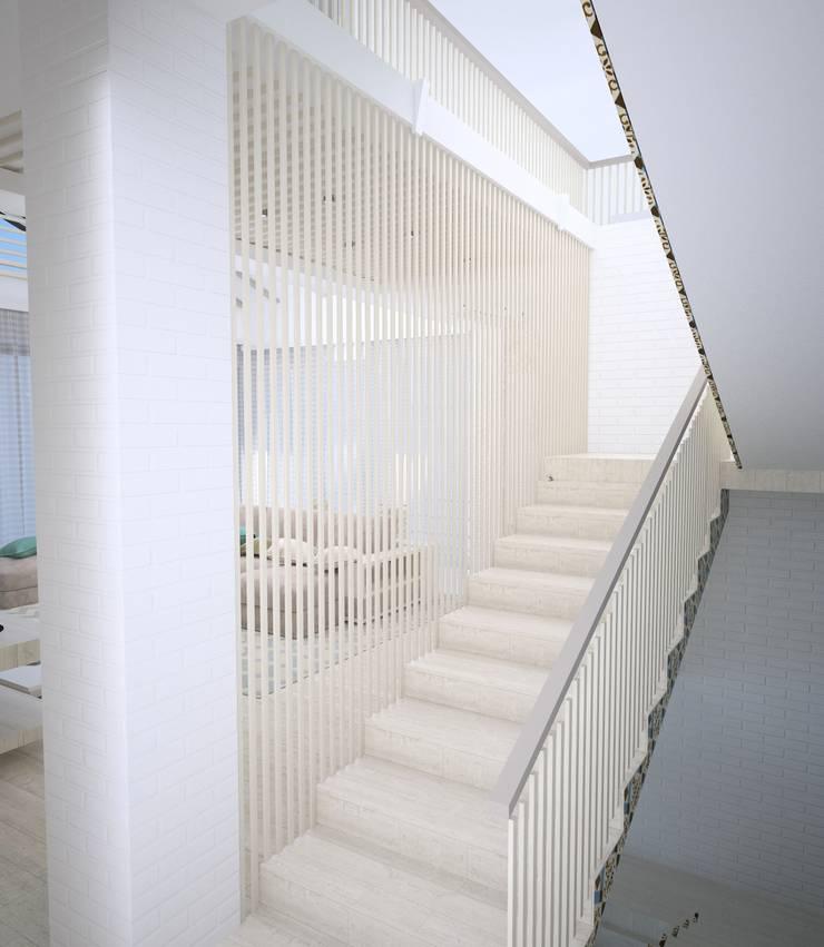 Couloir et hall d'entrée de style  par DS Fresco
