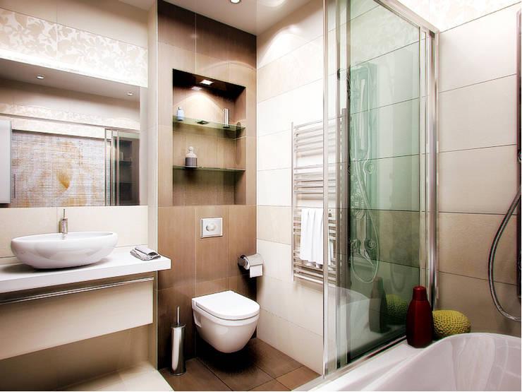 интерьер  коттеджа в современном стиле: Ванные комнаты в . Автор – архитектор-дизайнер Алтоцкий Михаил (Altotskiy Mikhail)