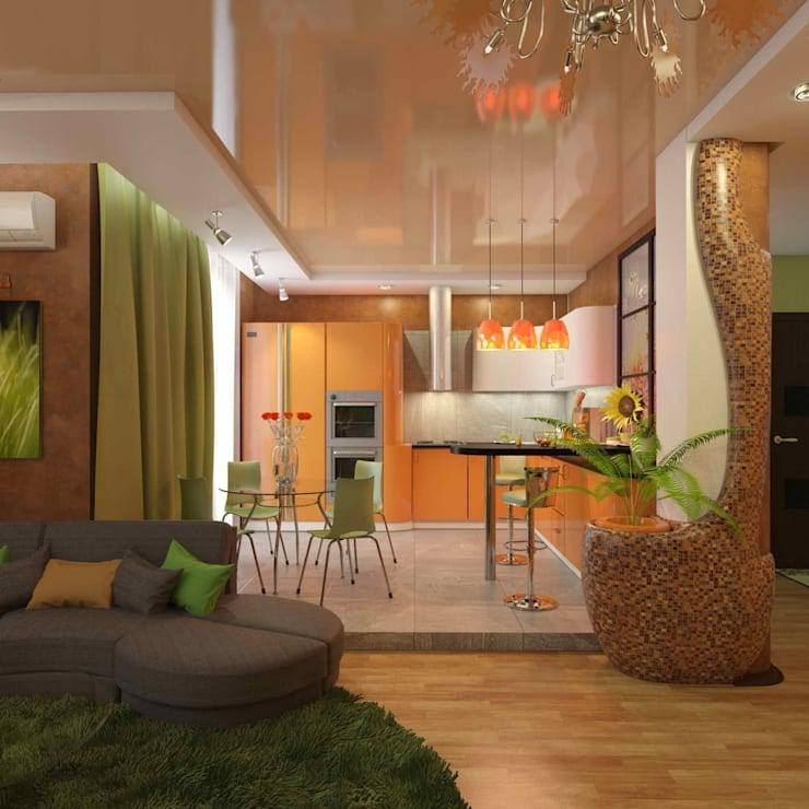 квартира в современном стиле: Кухни в . Автор – архитектор-дизайнер Алтоцкий Михаил (Altotskiy Mikhail)