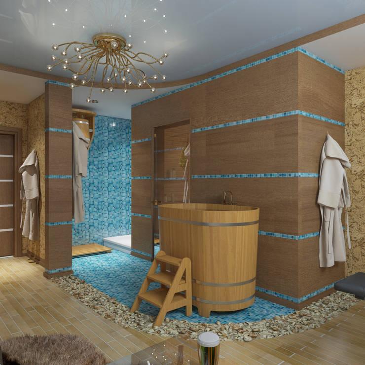 интерьер  коттеджа в современном стиле: Спа в . Автор – архитектор-дизайнер Алтоцкий Михаил (Altotskiy Mikhail)