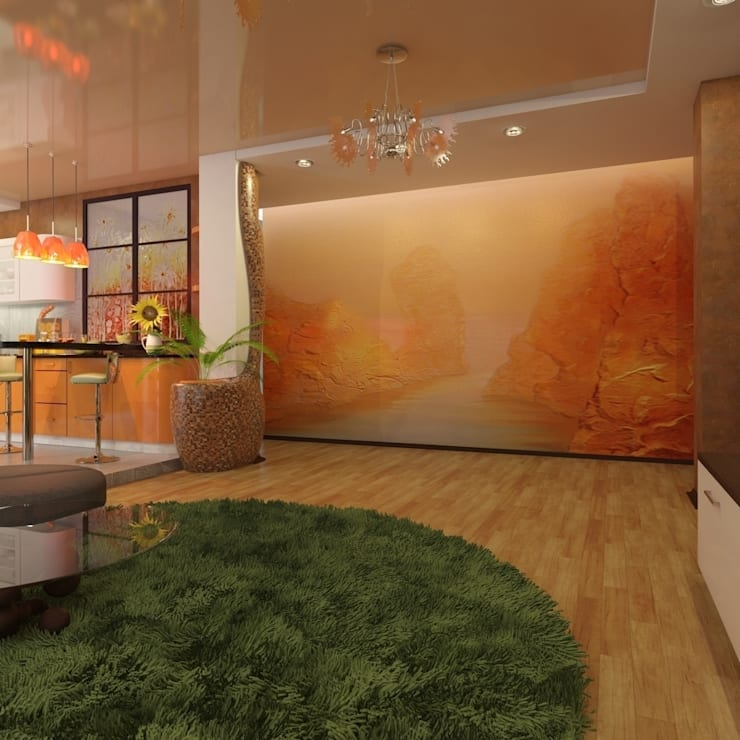 квартира в современном стиле: Гостиная в . Автор – архитектор-дизайнер Алтоцкий Михаил (Altotskiy Mikhail)
