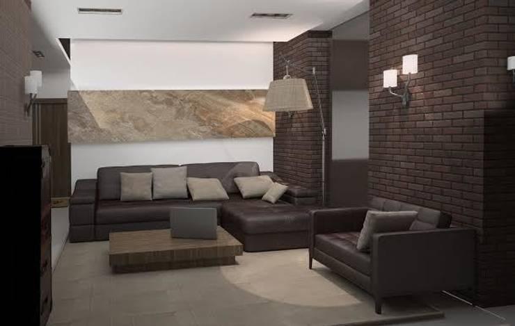 Квартира холостяка: Гостиная в . Автор – DS Fresco