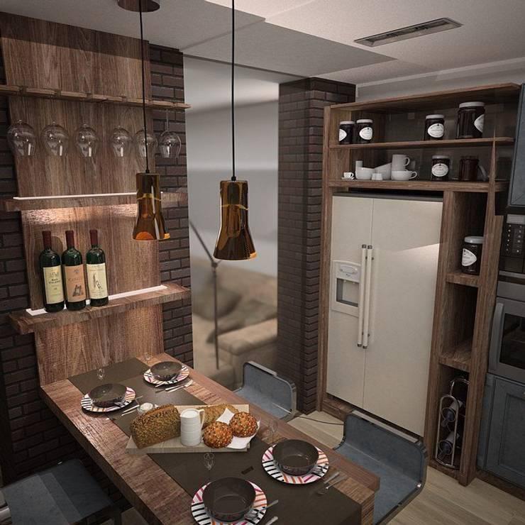 Квартира холостяка: Кухни в . Автор – DS Fresco