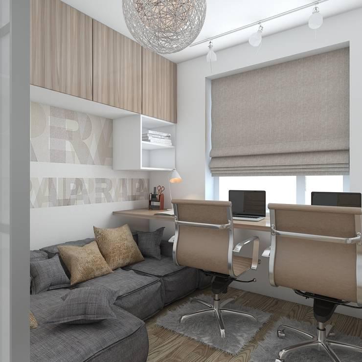 квартира в современном стиле 1: Рабочие кабинеты в . Автор – архитектор-дизайнер Алтоцкий Михаил (Altotskiy Mikhail)