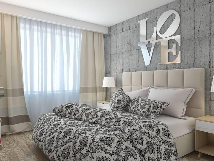 Recámaras de estilo minimalista por архитектор-дизайнер Алтоцкий Михаил (Altotskiy Mikhail)