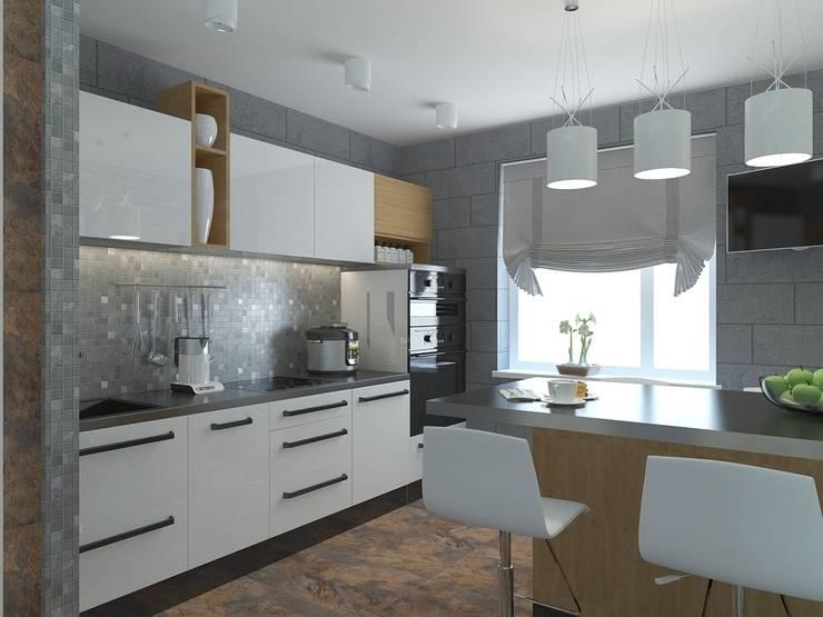 квартира в современном стиле 1: Кухни в . Автор – архитектор-дизайнер Алтоцкий Михаил (Altotskiy Mikhail)