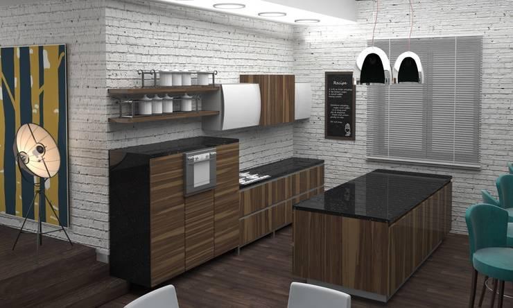 Студия в стиле лофт: Кухни в . Автор – DS Fresco