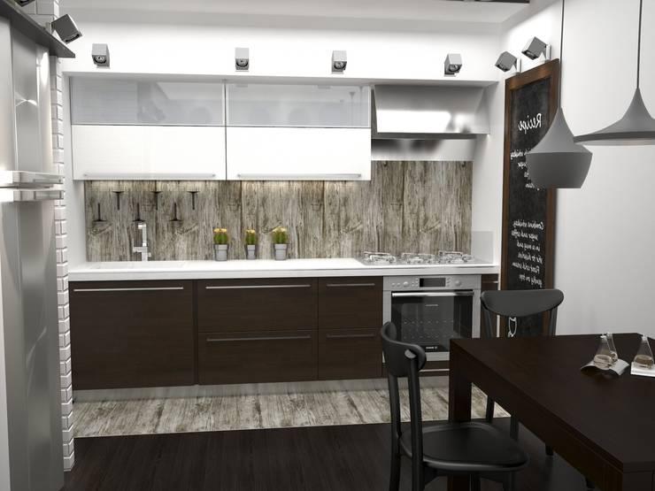 Двухкомнатная квартира: Кухни в . Автор – DS Fresco
