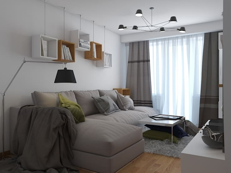 квартира в современном стиле 1: Гостиная в . Автор – архитектор-дизайнер Алтоцкий Михаил (Altotskiy Mikhail)