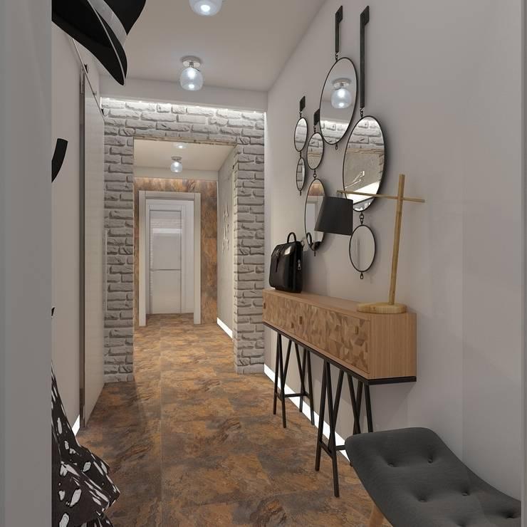 Pasillos, vestíbulos y escaleras de estilo minimalista de архитектор-дизайнер Алтоцкий Михаил (Altotskiy Mikhail) Minimalista