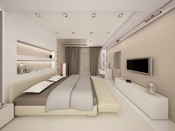 Коттедж: Спальни в . Автор – DS Fresco