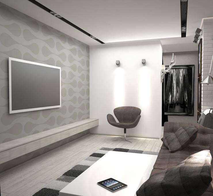 Двухкомнатная квартира: Гостиная в . Автор – DS Fresco