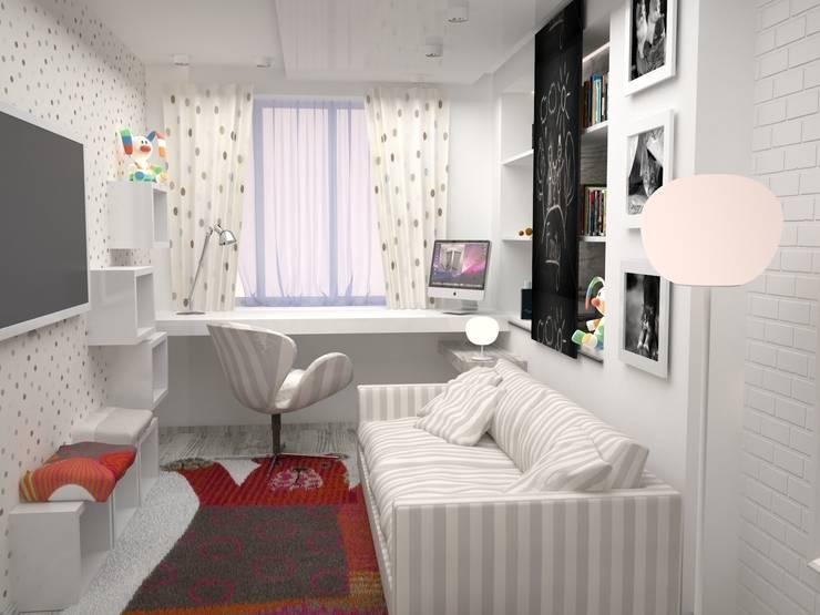 Двухкомнатная квартира: Детские комнаты в . Автор – DS Fresco